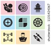 set of 9 simple editable icons... | Shutterstock .eps vector #1131424367