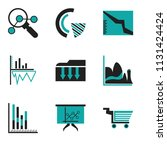 set of 9 simple editable icons... | Shutterstock .eps vector #1131424424