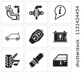 set of 9 simple editable icons...   Shutterstock .eps vector #1131424454