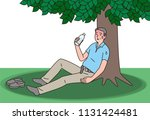 senior citizens who have become ... | Shutterstock .eps vector #1131424481