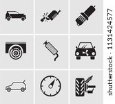 set of 9 simple editable icons...   Shutterstock .eps vector #1131424577