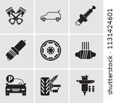 set of 9 simple editable icons...   Shutterstock .eps vector #1131424601
