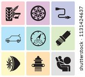 set of 9 simple editable icons... | Shutterstock .eps vector #1131424637