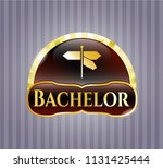 gold badge with directions...   Shutterstock .eps vector #1131425444