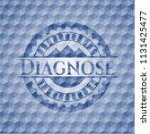 diagnose blue polygonal emblem. | Shutterstock .eps vector #1131425477