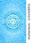 adoption sky blue mosaic emblem | Shutterstock .eps vector #1131428921
