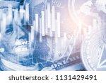 modern way of exchange. bitcoin ... | Shutterstock . vector #1131429491