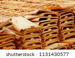 roofing tiles made of clay and... | Shutterstock . vector #1131430577