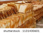 roofing tiles made of clay and... | Shutterstock . vector #1131430601