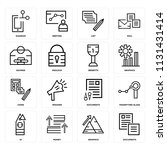 set of 16 icons such as... | Shutterstock .eps vector #1131431414
