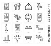 set of 16 icons such as mail ... | Shutterstock .eps vector #1131431444