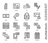 set of 16 icons such as... | Shutterstock .eps vector #1131431537