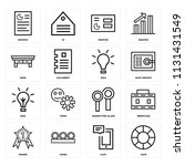 set of 16 icons such as save ...