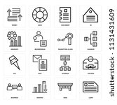 set of 16 icons such as card ...