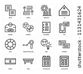 set of 16 icons such as... | Shutterstock .eps vector #1131431624