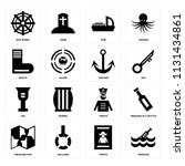 set of 16 icons such as message ...