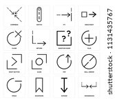 set of 16 icons such as... | Shutterstock .eps vector #1131435767