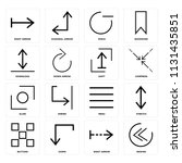 set of 16 icons such as rewind  ... | Shutterstock .eps vector #1131435851