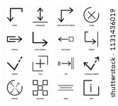 set of 16 icons such as info ...