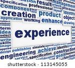 experience poster conceptual... | Shutterstock . vector #113145055