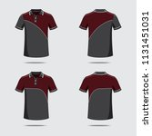 polo shirt pattern | Shutterstock .eps vector #1131451031
