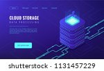 isometric cloud storage data... | Shutterstock .eps vector #1131457229
