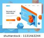 website development concept ... | Shutterstock .eps vector #1131463244