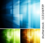 bright technology background.... | Shutterstock .eps vector #113146939