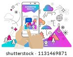 augmented reality mobile app... | Shutterstock .eps vector #1131469871