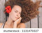 portrait of beautiful young... | Shutterstock . vector #1131470327
