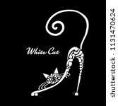 white cat design. vector... | Shutterstock .eps vector #1131470624