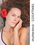 portrait of beautiful young... | Shutterstock . vector #1131470681
