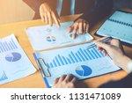 business people meeting... | Shutterstock . vector #1131471089
