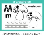 alphabet a z exercise with... | Shutterstock .eps vector #1131471674
