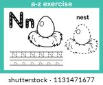 alphabet a z exercise with... | Shutterstock .eps vector #1131471677