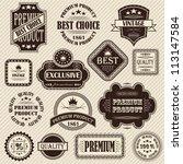 vector set. vintage labels.... | Shutterstock .eps vector #113147584