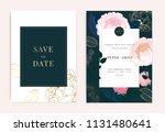 wedding invitation  floral... | Shutterstock .eps vector #1131480641