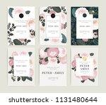 wedding invitation  floral... | Shutterstock .eps vector #1131480644