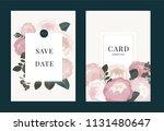 wedding invitation  floral... | Shutterstock .eps vector #1131480647