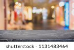 empty black marble stone table... | Shutterstock . vector #1131483464