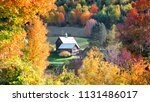 barn in vermont country side... | Shutterstock . vector #1131486017