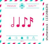 symbol of music  notes.... | Shutterstock .eps vector #1131486341