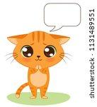 cute cartoon kitten is begging. ...   Shutterstock .eps vector #1131489551