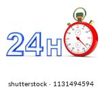 stopwatch with 24h text   this... | Shutterstock . vector #1131494594