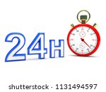 stopwatch with 24h text   this... | Shutterstock . vector #1131494597