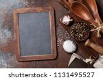 vintage kitchen utensils and... | Shutterstock . vector #1131495527
