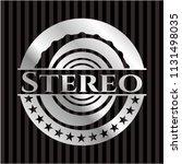 stereo silver emblem or badge | Shutterstock .eps vector #1131498035