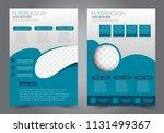 abstract flyer template.... | Shutterstock .eps vector #1131499367