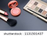 cosmetics on dark background ... | Shutterstock . vector #1131501437