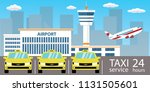 yellow cars  taxi service... | Shutterstock .eps vector #1131505601